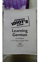 THE COMPLETE IDIOT'S GUIDE TO LEARNİNG GERMAN | Kitap Keyfim